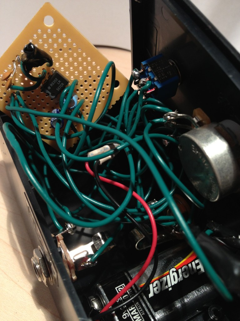 Not the best wiring job I've ever done.