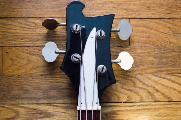 The headstock with the truss rod cover installed