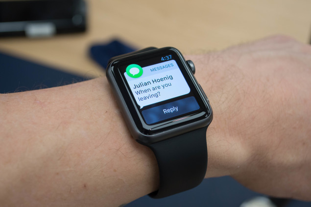 Apple Watch Sport on wrist