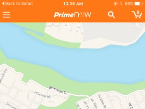 The real time delivery status of your package