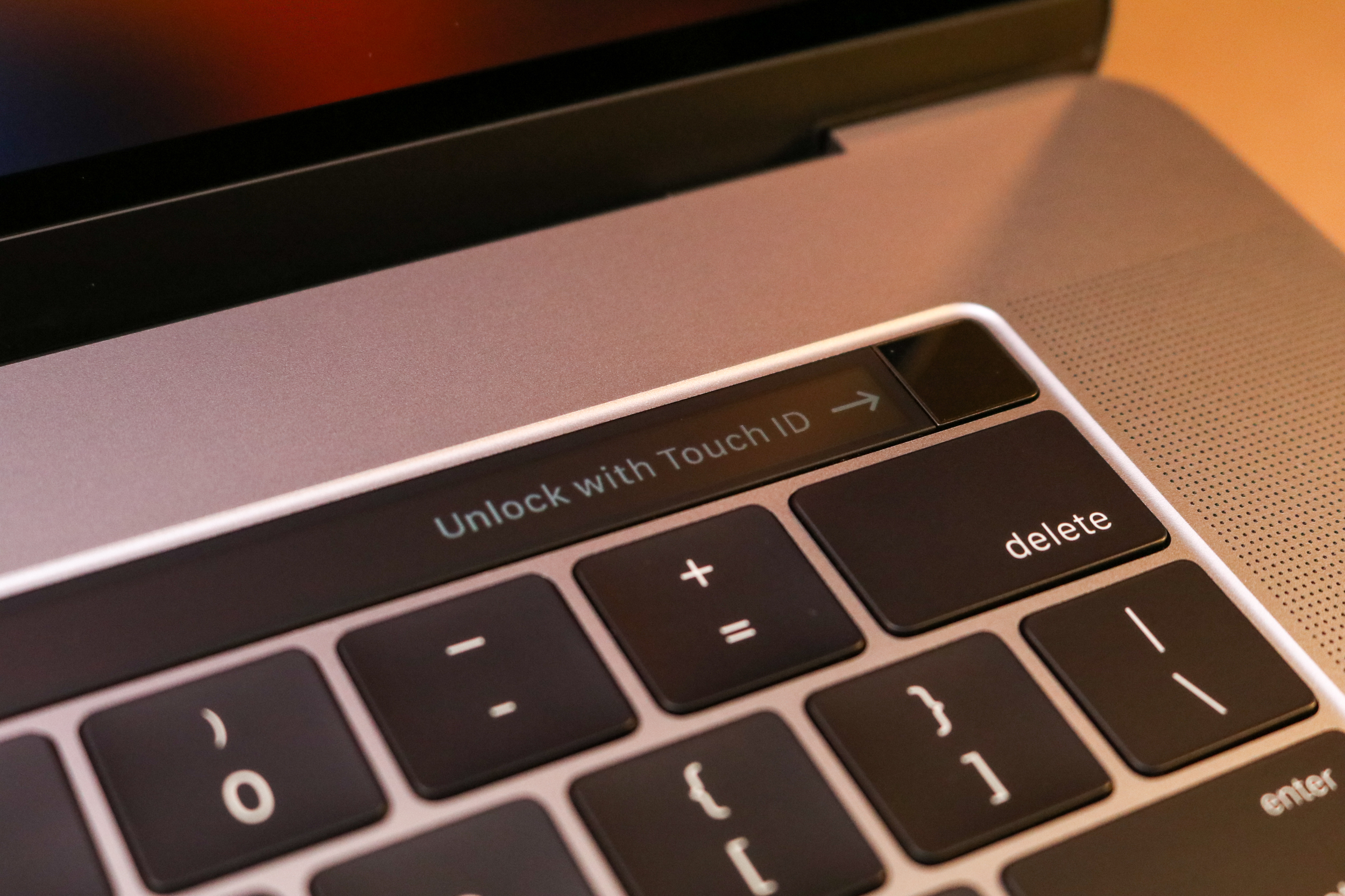 Touch ID built right into the keyboard!