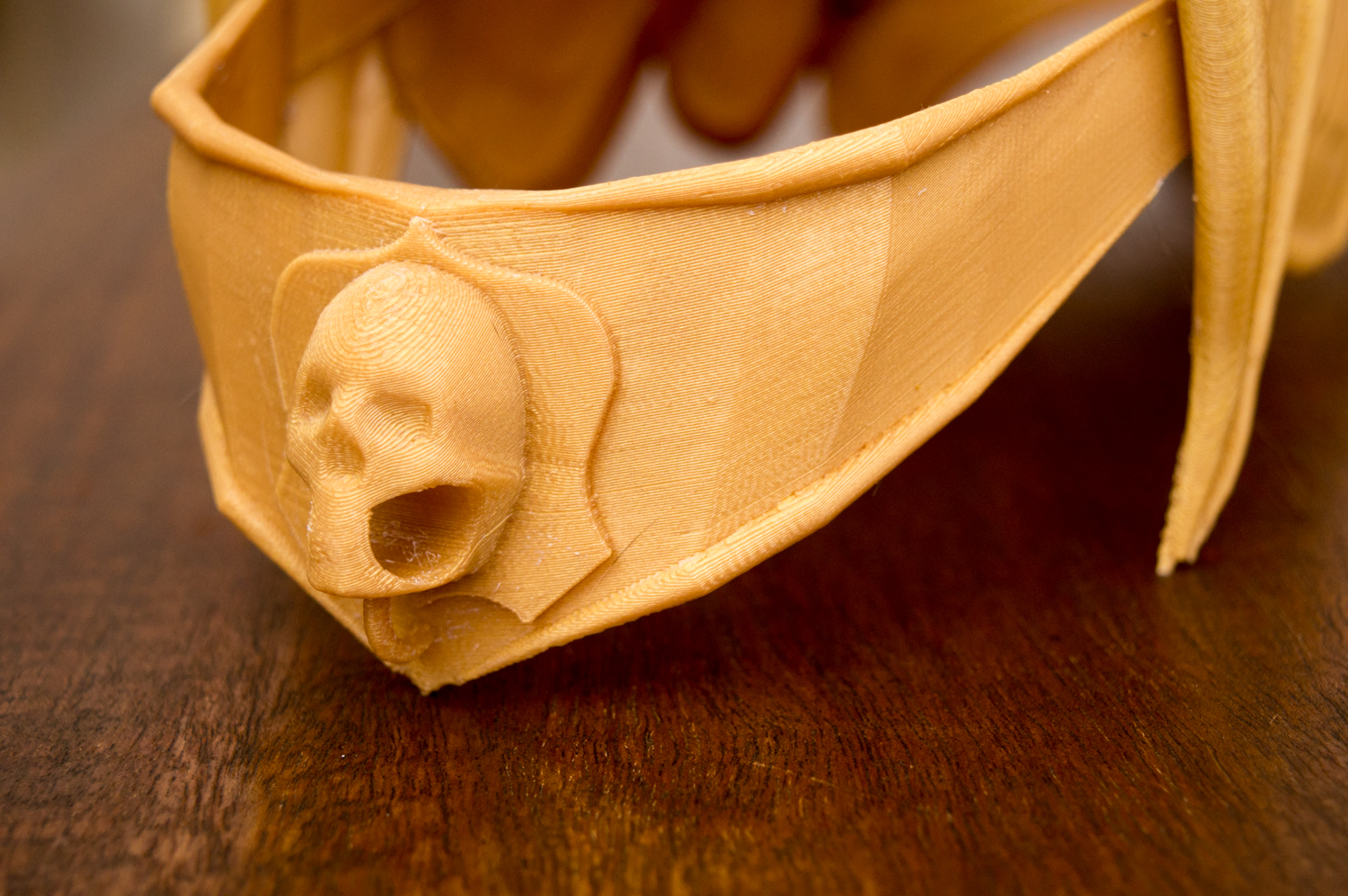 You can hang a name-tag from the skull!